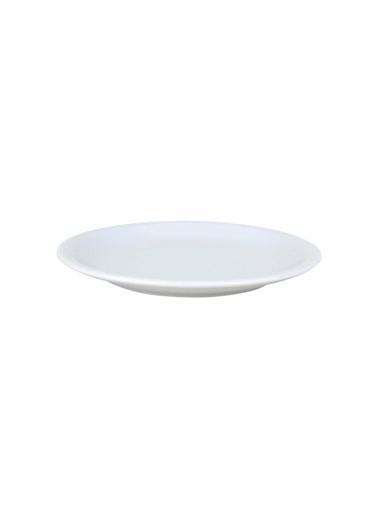 Porland Porland İstanbul Beyaz Düz Tabak 26 cm Renkli